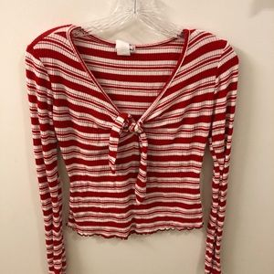 Candy Cane Christmas Top